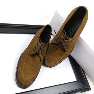 Cole Haan leather suede loafer lace up heavy 6.5